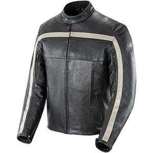 Joe Rocket Old School Leather Jacket   Small/Black/Black