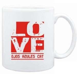 Mug White  LOVE Ojos Azules  Cats