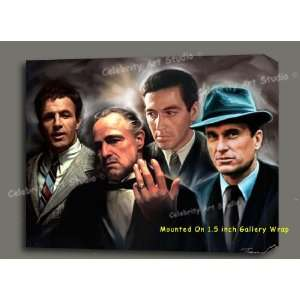 GODFATHER ORIGINAL MIX MEDIA GICLEE, OIL PAINTING CANVAS