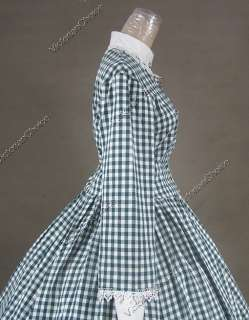 Civil War Victorian Cotton Blend Ball Gown Day Dress Cosplay 145 XL