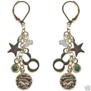 Kirks Folly Crystal Star Gazer Earrings Taurus Zodiac