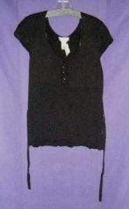 Nine West black cap sleeve knit top size 2X