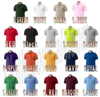 Gildan Mens Golf Casual Polo Shirt 2XL 5XL 19 COLORS