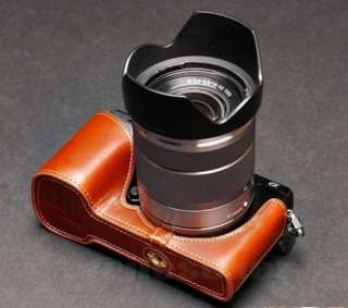 COW leather case bag cover for SONY NEX7 NEX 7 Camera half case