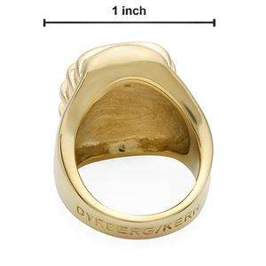 120 DYRBERG/KERN Brand New Ring   Gold Plated with Genuine Swarovski