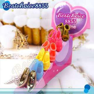 20 pairs Barbie Doll Toy Mix Styles fashion party Shoes