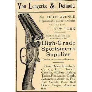 1906 Ad Von Lengerke Detmold Gun Rifle Revolver Sport   Original Print