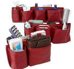 On the Go Bag Organizers by Lori Greiner TAUPE