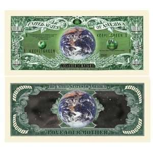 Mother Earth Million Dollar Bill Case Pack 100 Toys & Games