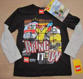 LEGO City *Bring It On* Blk Tee Shirt Gift Set 6/7 +TOY