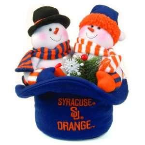12 NCAA Syracuse Orange Plush Snowmen Top Hat Christmas