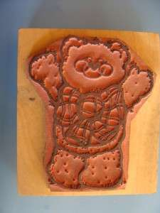 Rubber Stamp  Love You This Much Bear With Large Bow