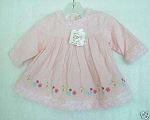 NWT NEW HANNA ANDERSSON Baby Girl Pink Cord Dress 60
