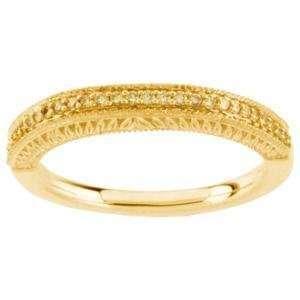 14K Yellow Gold Natural Yellow Diamond Band Ring Size 6.5