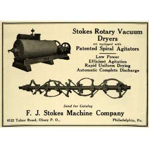 1922 Ad F. J. Stokes Rotary Vacuum Dryer Spiral Agitator
