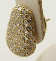 Designer Morelli 18K Yellow Gold Diamond Earrings