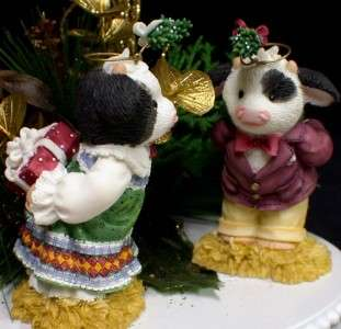 Mary Moo County Western cow Wedding Cake Topper Winter Chritsmas groom
