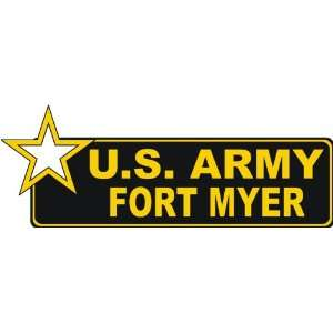 United States Army Fort Myer Bumper Sticker Decal 6