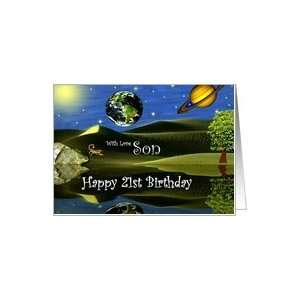 Birthday ~ Son / Age Specific 21st ~ Planet Taro Card: Toys & Games