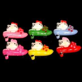 C1688B x 20 pcs Mix High Heel Shoe Hello Kitty 17MM Resin Flatback