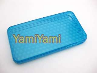 Plastic Skin Protector For Apple iPhone 4G 4Gs 4 Soft Rhomb Cover Case