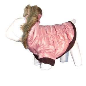 Pet Life Metallic Quilted Parka   Rose   MD: Home