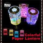 chinese paper lantern multi color mini paper lantern led light