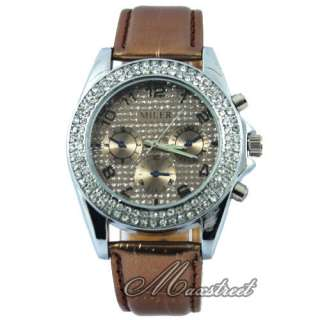 New Fashion Womens Ladys Luxury Bling Crystal Quartz Wrist Watch 6