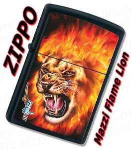 Zippo MAZZI Flame Lion Black Matte Lighter 28003 *NEW*