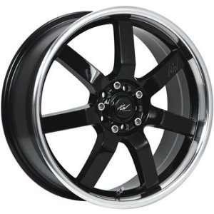 ICW Osaka 18x7.5 Black Wheel / Rim 5x100 & 5x4.5 with a 42mm Offset
