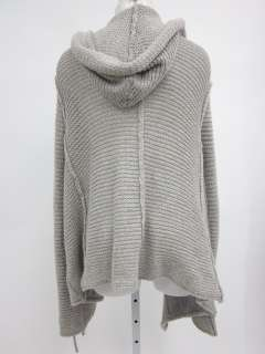 INHABIT Gray Knit Long Sleeve Hooded Cardigan Sweater M