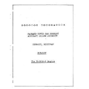 Aircraft Engine Memorandum Manual Rolls Royce  Books