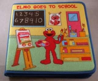 Sesame Street Elmo Goes To School Felt Interactive Playset Book