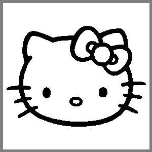 Hello Kitty 5 Inch Car Window Stickers Decals ANY COLOR