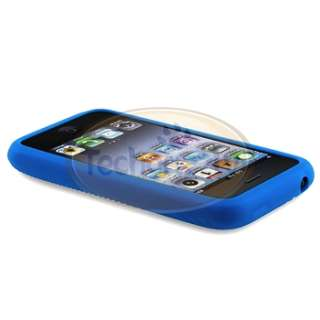 Blue Soft Case Cover+Privacy Filter for iPhone 3 G 3GS New