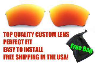 Polarized FIRE RUBY RED Replacement Lenses for Oakley Half Jacket XLJ