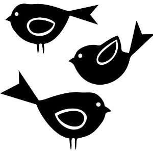 Three Birds Vinyl Wall Art Decal