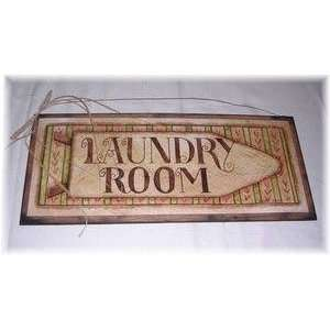 Laundry Room Ironing Board Wooden Wall Art Sign