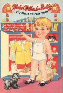 VINTAG MAKE CLOTHES PATSY PAPER DOLL LSER RPRO FREESHW2