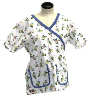 Nurse Dental Beautician White with Blue trim Style 3136 E #143