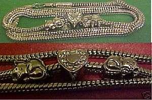 Silver Cat Rhinestone LOVE Charm Bracelet, Rescue