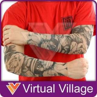 Tattoo Sleeves Skull & Roses Costume #43