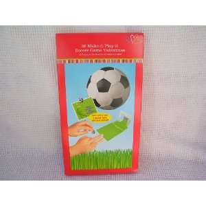 Soccer Game Make It Play It Valentine Cards for Kids
