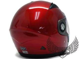 GLOSS RED JET PILOT MOTORCYCLE HELMET   XL