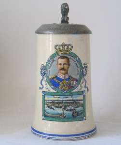 Military Regimental Beer Stein 20. Inf. Rgmt.Lindau c.1915