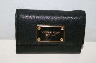 Brand New Michael Kors Jet Set Leather Coinpurse (Black) 32H02JSP2L