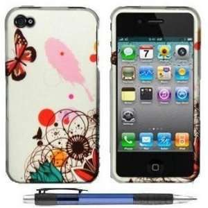 Butterfly Flying In Colorful Flowers Design Protector Hard