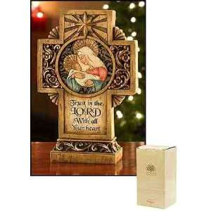 Inches D, Christmas Trust in the Lord with All Your Heart Cross Figure