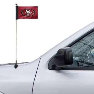 NFL San Francisco 49ers 4 x 5.5 Burgundy Car Antenna Flag