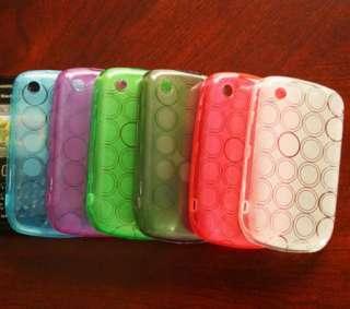 BlackBerry Curve 8520 8530 TPU Gel Skin Cover Case + Screen Protector